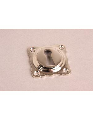 Keyhole escutcheon Bright Nickel 43mm