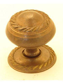 Knob Brass Antique 25mm
