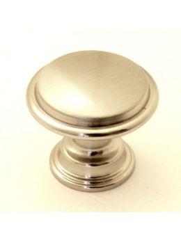 Knob Brushed Steel 30mm