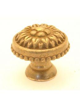 Knob Brass Antique 24mm