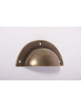 Shell handle bronze antique 93mm