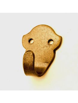 Coat Hook Brass Antique 68mm