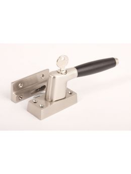 Casement window latch Brushed Nickel with Black Ebony 110mm
