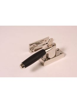 Casement window latch Bright Nickel with Black Ebony 110mm