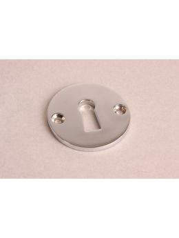 Keyhole escutcheon Bright Nickel 50mm