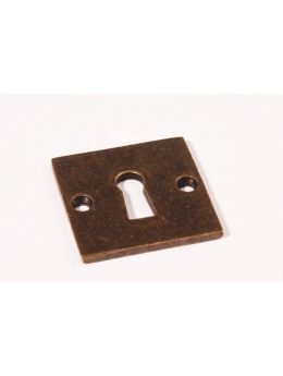 Keyhole escutcheon Brass Antique 50mm