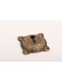Keyhole escutcheon Brass Antique 43mm