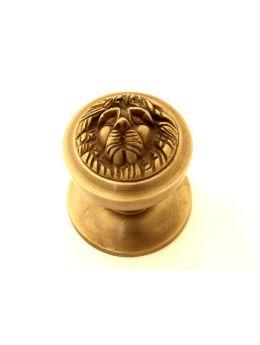 Door knob bronze antique 'lion head'