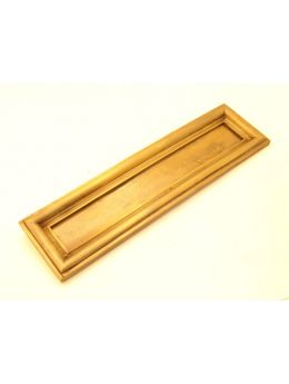 Letter plate Brass Antique 27 x 32mm