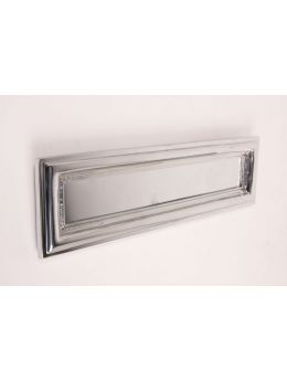 Letter plate Bright Chrome 27 x 32mm