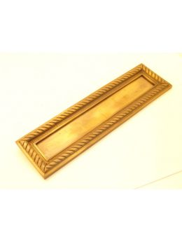 Letter plate Brass Antique 27 x 33mm