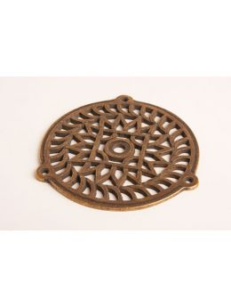 Round Grill Brass Antique 130mm