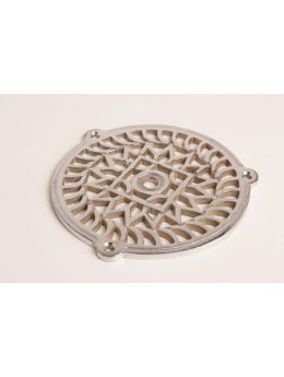 Round Grill Bright Chrome 130mm