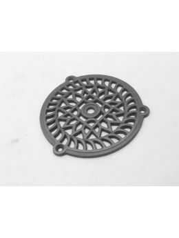 Round Grill Metal Grey 130mm