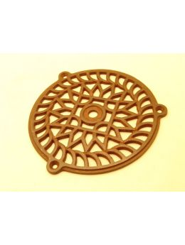 Round Grill Rust Lacquer 160mm
