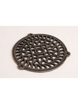 Round Grill Antique Silver 130mm