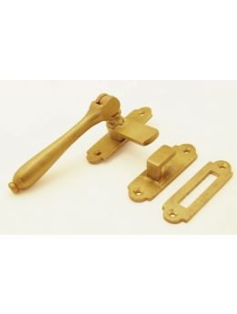 Window lock (right/left) bronze antique