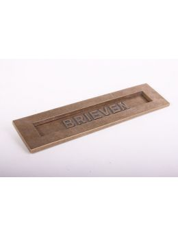 Letter plate Brass Antique 80 x 320mm