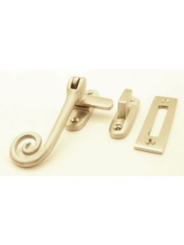 Casement window latch Brushed Steel 11mm