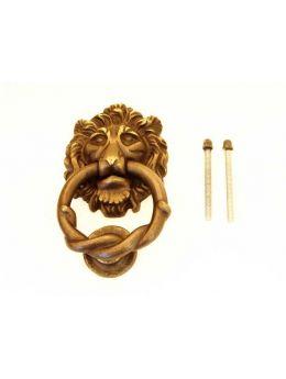 Door knocker bronze antique lionhead