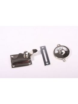 Toilet lock with indicator Bright Chrome 70mm