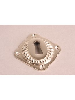 Keyhole escutcheon Bright Nickel 65mm