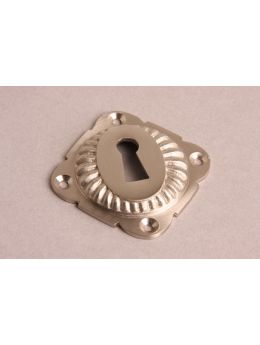 Keyhole escutcheon Brushed Nickel 65mm