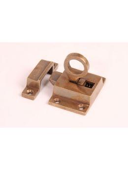 Transom Window Latch Brass Antique 38 x 55mm