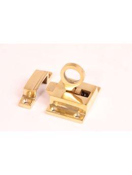 Transom Window Latch Brass Polish 38 x 55mm