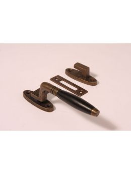 Casement window latch Brass Antique 140mm