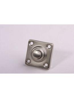 Doorbell push Brushed Nickel 37mm