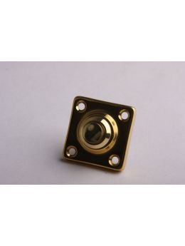 Doorbell push Brass Polish 37mm