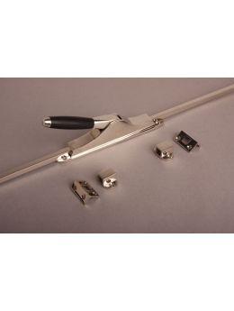 Espagnolette bolt with bars Bright Nickel with Black Ebony 2400mm