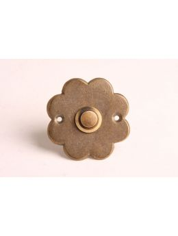 Doorbell push Brass Antique 60mm