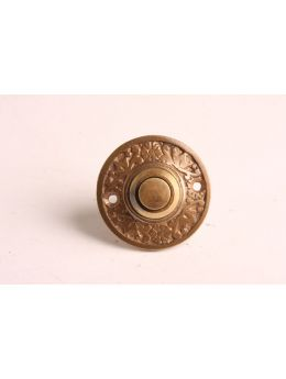 Doorbell push Brass Antique 42mm